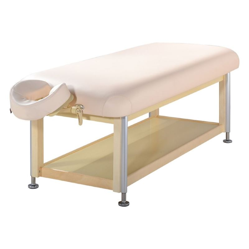 "MasterMassage 30"" Sheldon Hydraulic Stationary Massage Table Beauty Bed Beige"