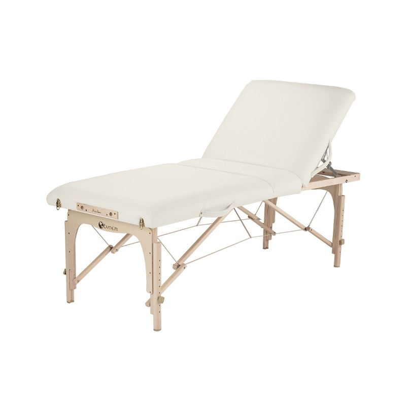Picture of the Avalon XD tilt top massage table in Vanilla Cream color.