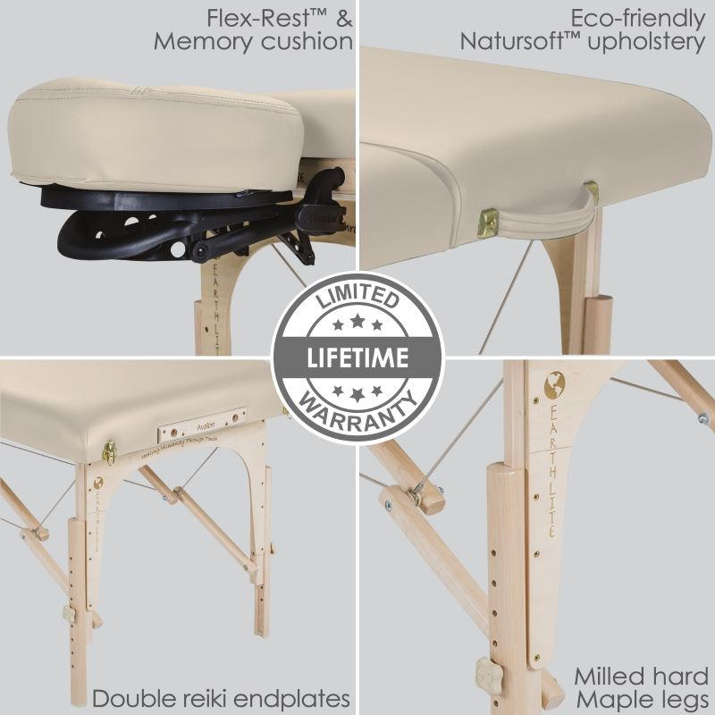 Image of Earthlite Avalon XD table features closeup