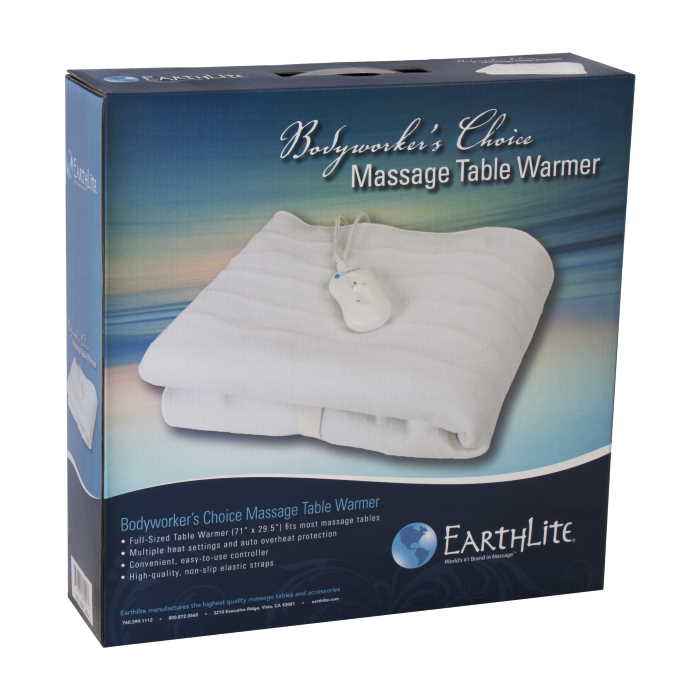 Bodyworkers Choice portable massage table warmer packaging