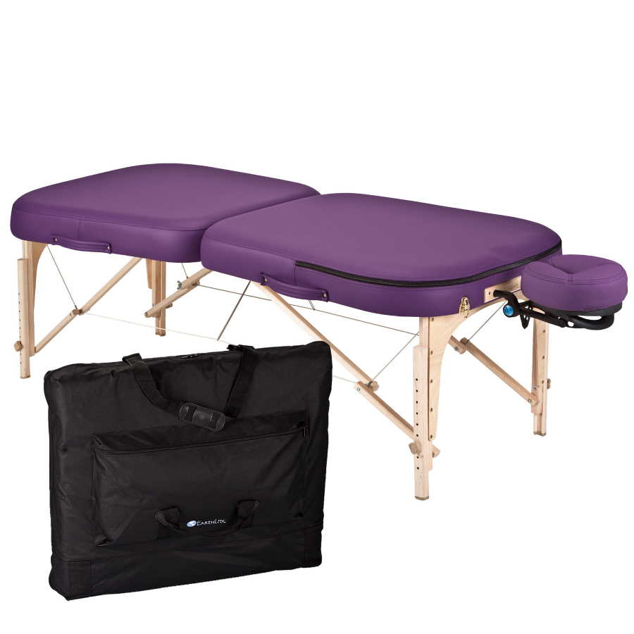 EarthLite Infinity Conforma Portable Massage Table Package picture with table, headrest, and carry case