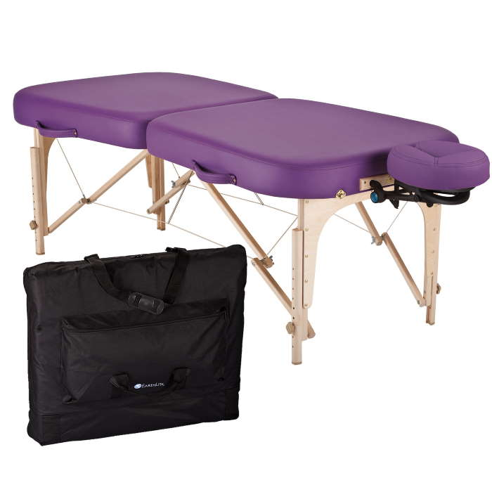 EarthLite Infinity Portable Massage Table Package picture with table, headrest, and carry case