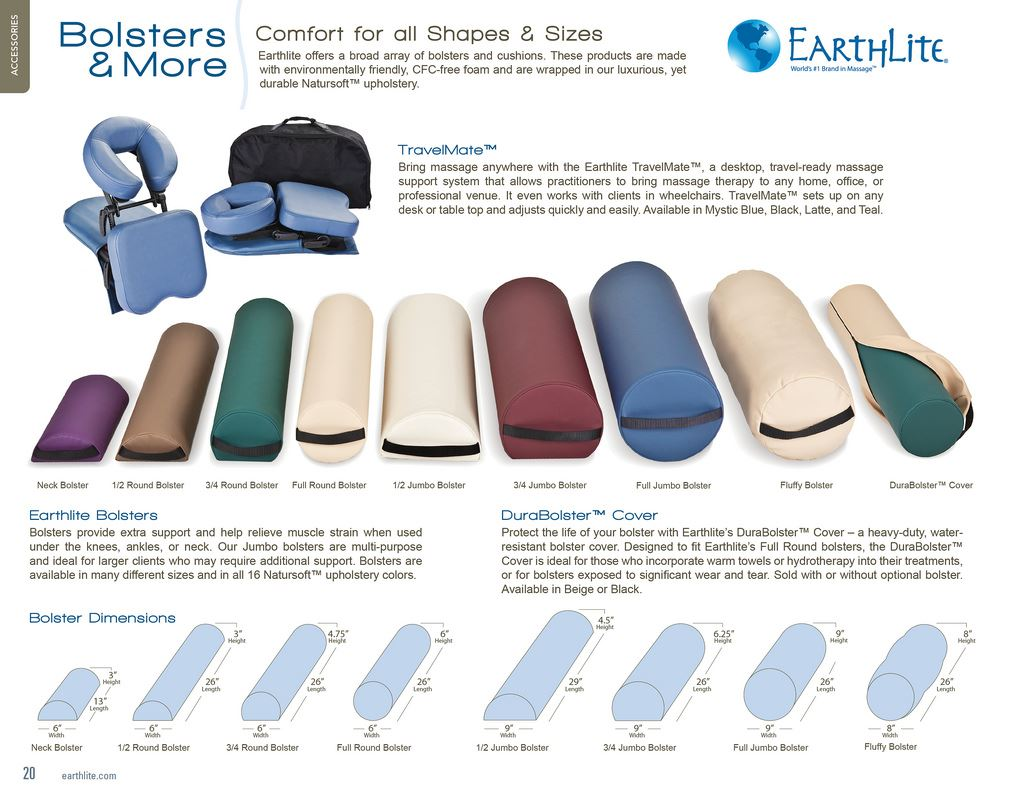 Massage bolster comparison guide for Earthlite bolsters