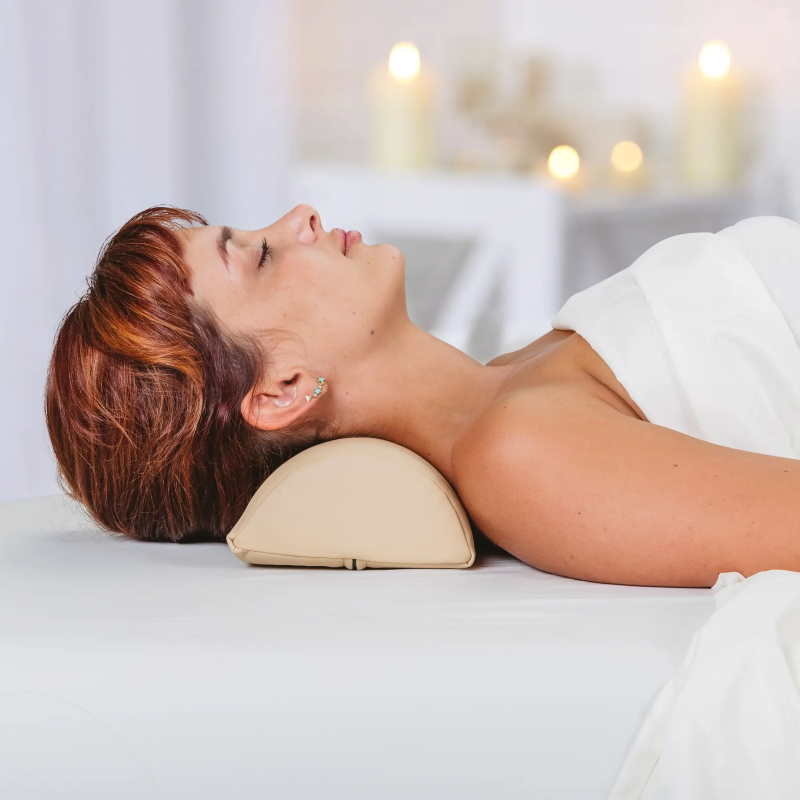 Earthlite Neck Bolster shown in use.