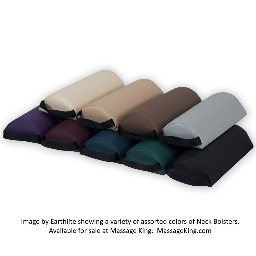 Neck Bolster assortment showing a variety of available colors.