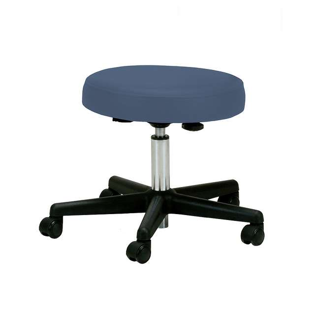 Image of Earthlite pneumatic rolling massage stool in mystic blue color
