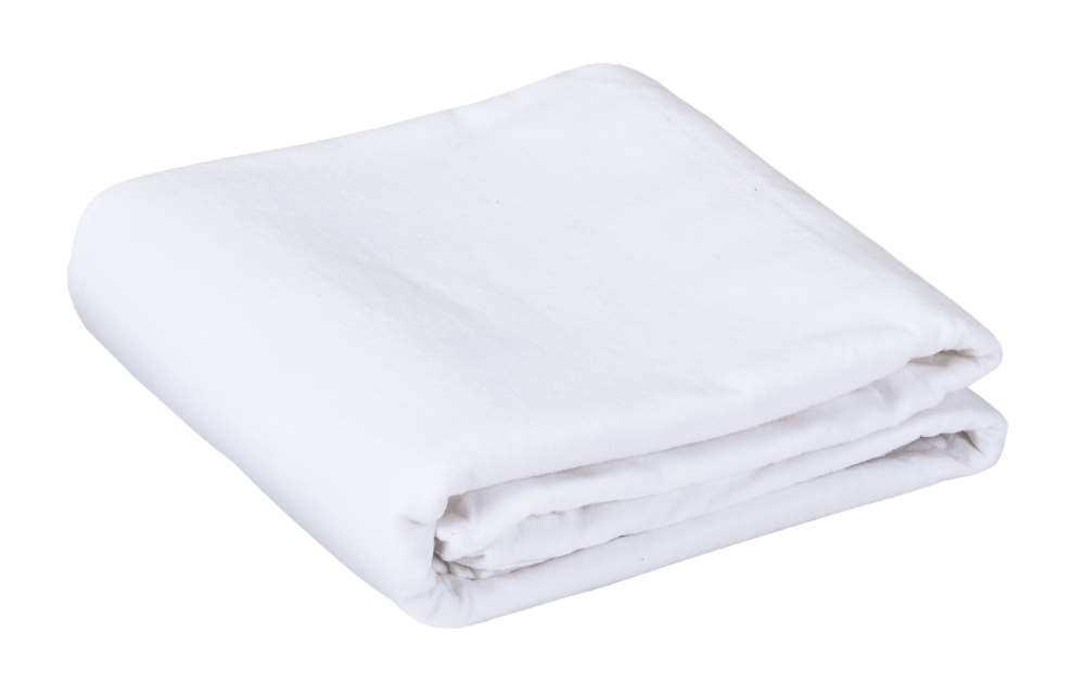 White massage table flannel top sheet