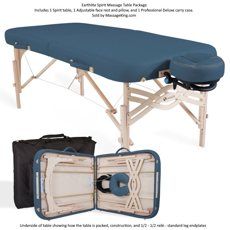 EarthLite Spirit Portable Massage Table Package massage tables, massage table, massage table packages, earthlite spirit massage table