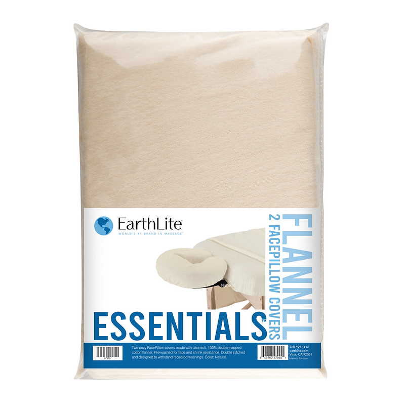 Essentials Flannel Crescent Cover 2 pack in Natural by Earthlite