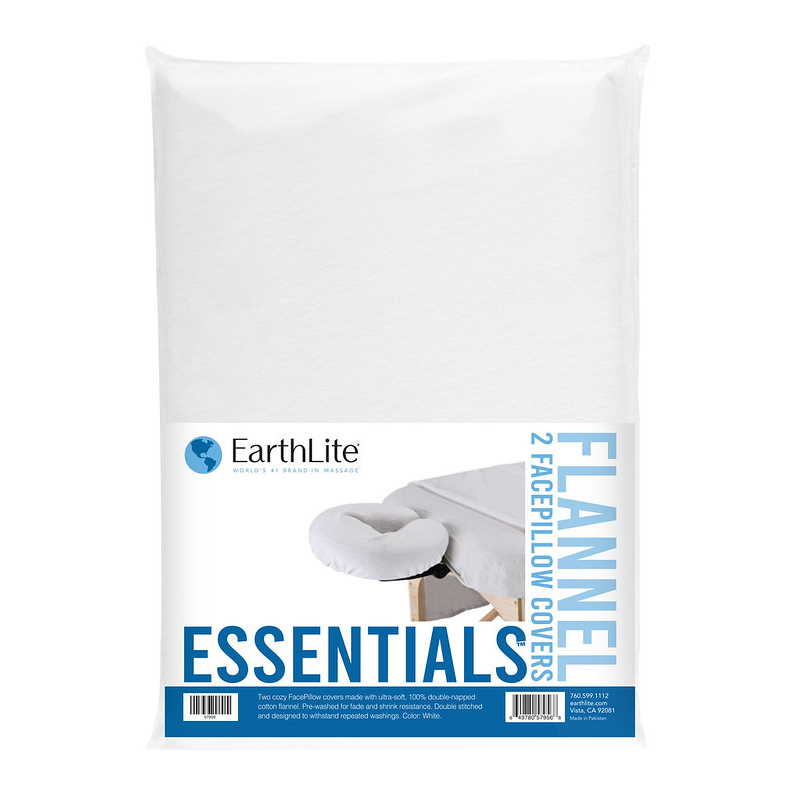 Essentials Flannel Crescent Cover 2 pack in White, by Earthlite
