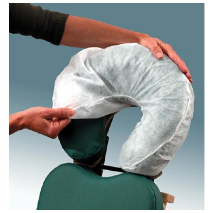 Fitted Disposable Headrest Covers - 50pk - Stays on the head rest cushion, not the face, when you client lifts their head.