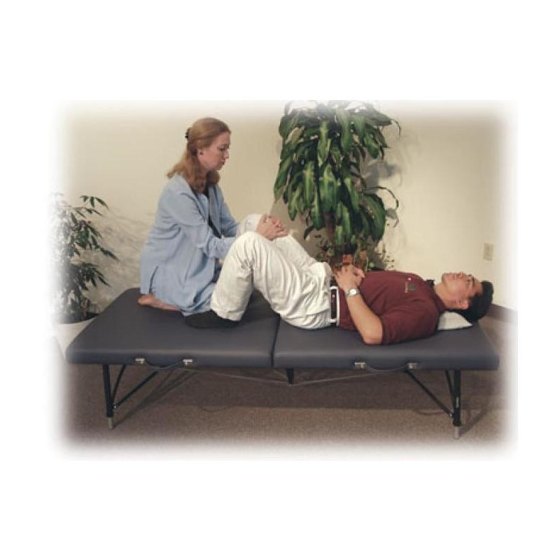 Somatic mat massage table is strong, sturdy enough for client and therapist.
