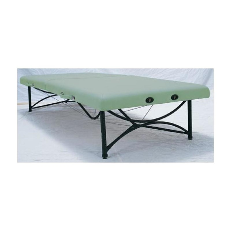 Feldenkrais massage table is foldable, portable, and storable.