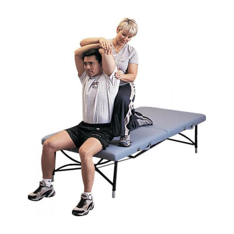 Somatic mat Feldenkrais table for upright client and therapist use.