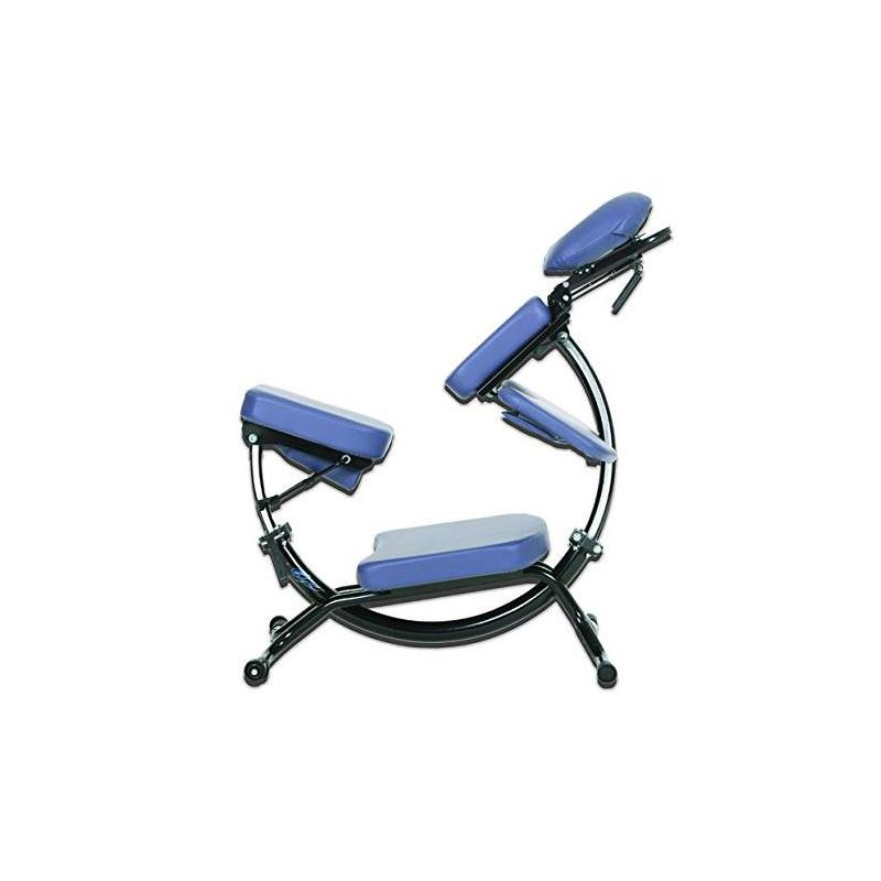Pisces Dolphin II Massage Chair - Pisces Dolphin II portable massage chair sits up and lays almost flat.