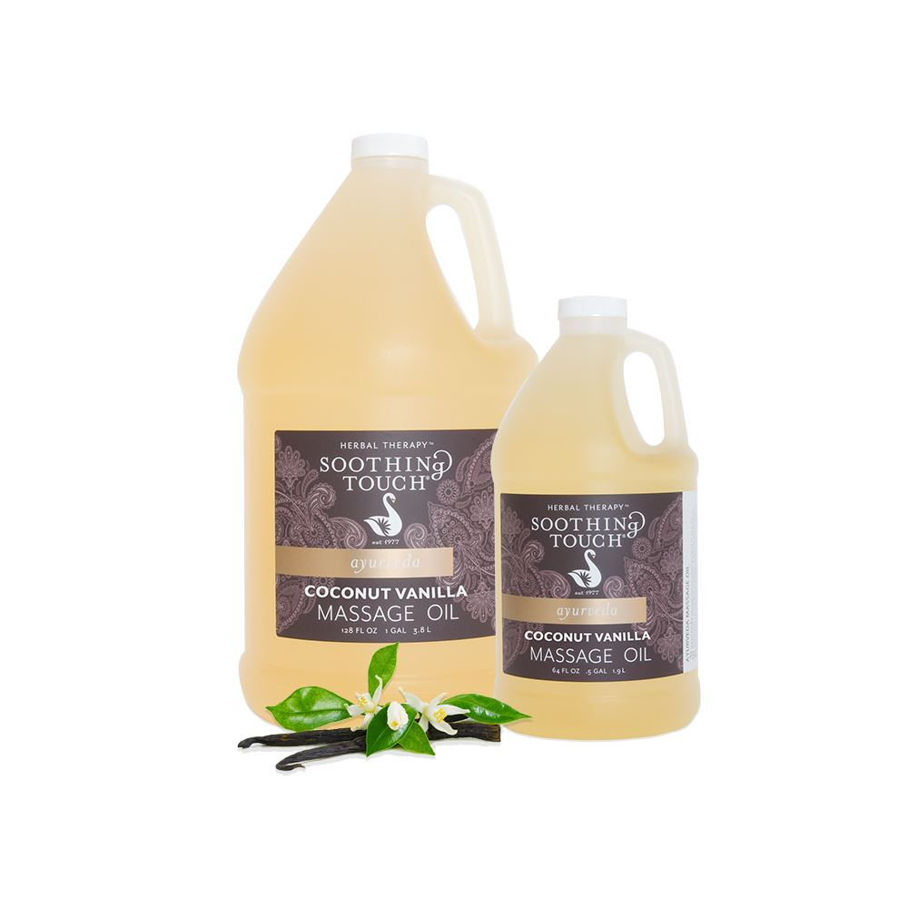Soothing Touch Coconut Vanilla Massage Oil Half Gallon - Soothing Touch Coconut Vanilla Massage Oil