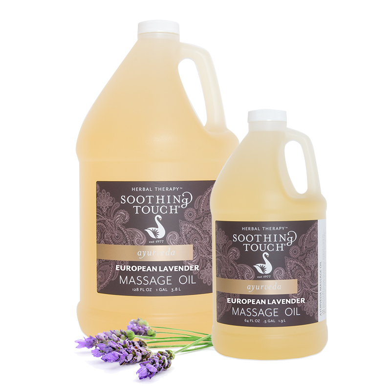 Soothing Touch European Lavender Massage Oil 1/2 Gallon - <B><P>Lavender massage oil calming and relaxing scent.</b>