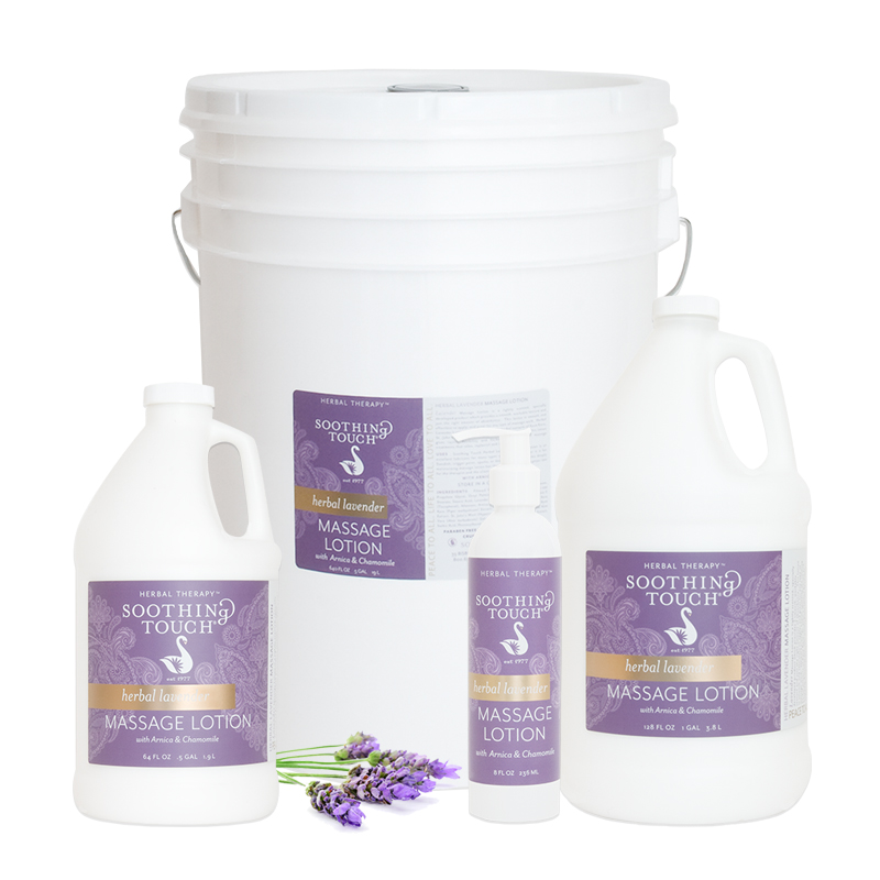 Soothing Touch Lavender Massage Lotion One Gallon - Soothing Touch Lavender Massage Lotion