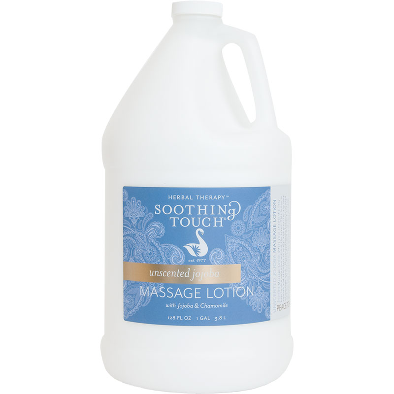 Soothing Touch Unscented Jojoba Massage Lotion One Gallon - Customer favorite massage lotion for the Massage Therapist