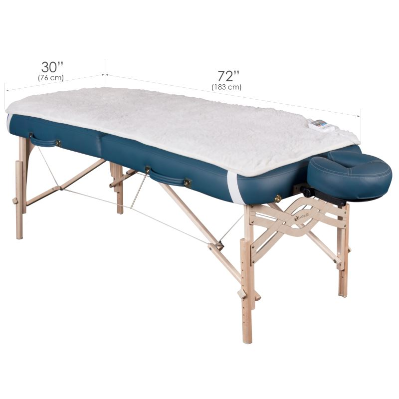 Dimensions of the portable massage table fleece pad warmer
