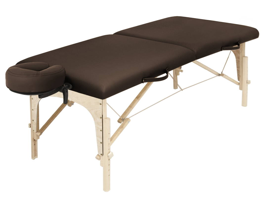Tech 300 portable massage table in Espresso