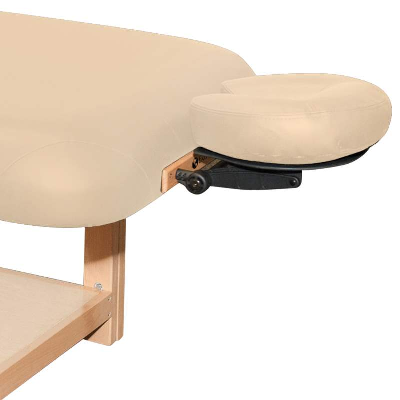 Earthlite Terra table showing adjustable face rest platform and pillow.