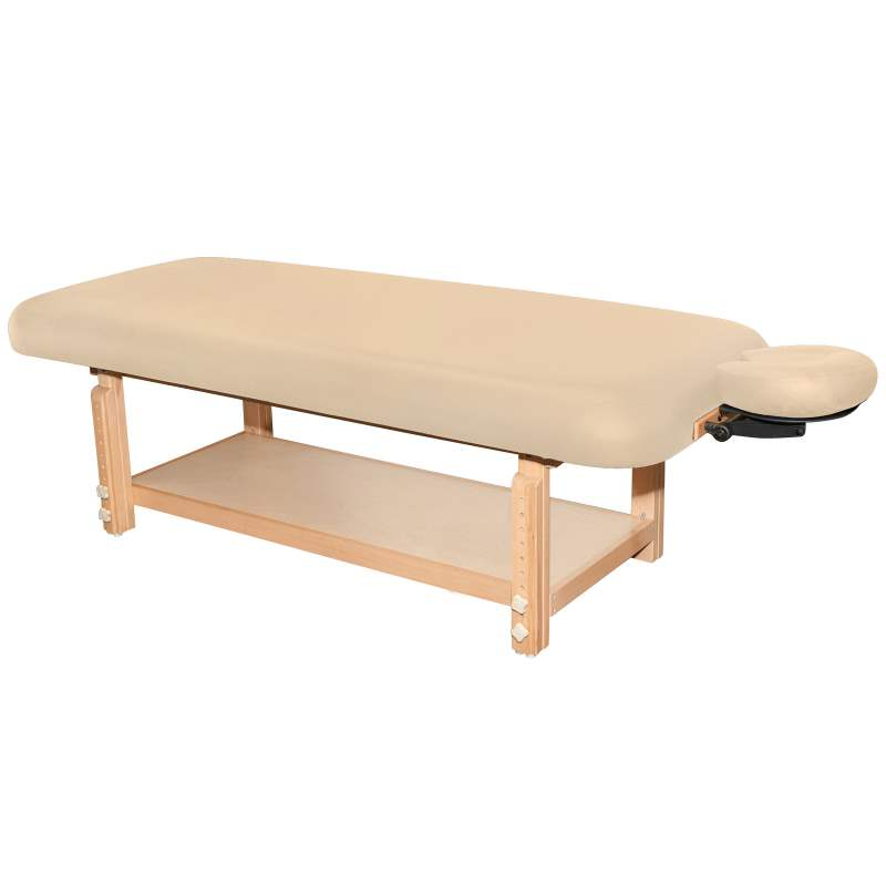 Terra treatment table in beige upholstery