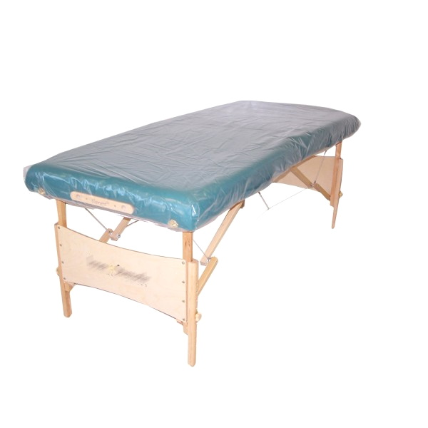 Waterproof plastic sheet for massage tables. Reusable.