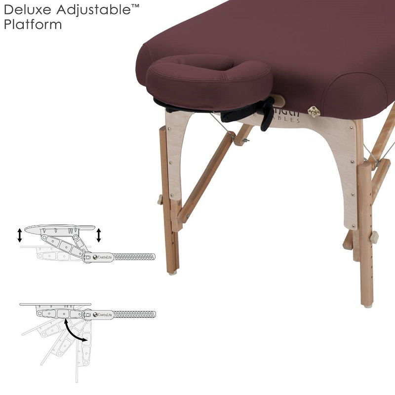 Deluxe adjustable head rest platform and face pillow for the e2 table.