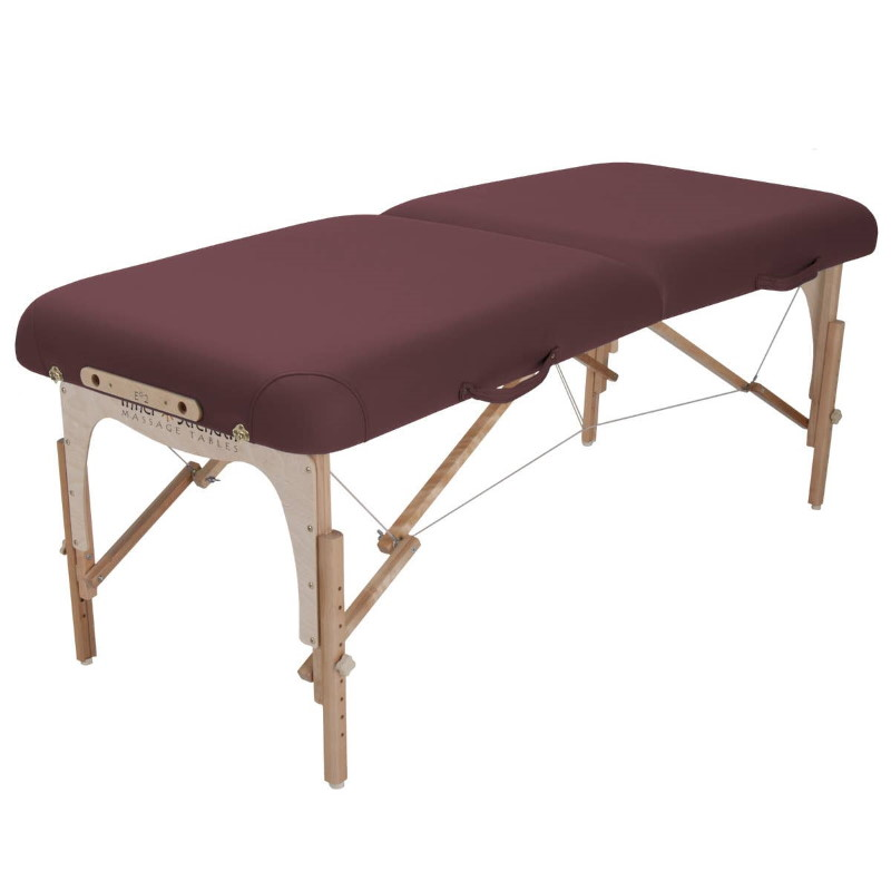 Side view of the e2 portable massage table.