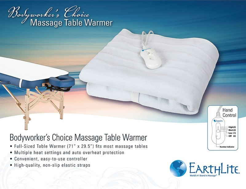 Bodyworkers Choice massage table warmer sell sheet