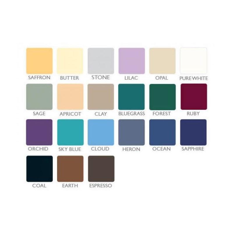 Oakworks TerraTouch upholstery color chart.