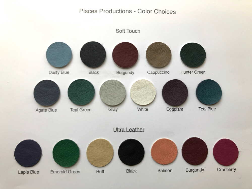 Pisces Pro vinyl color choices chart.