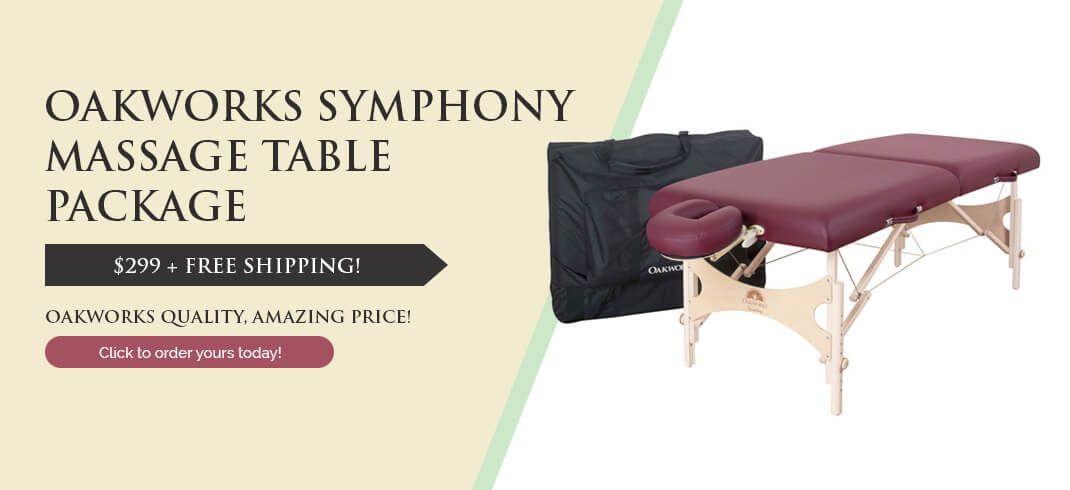 Symphony massage table package by Oakworks