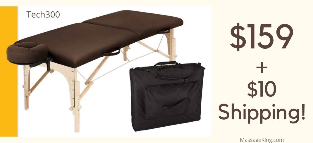 Tech 300 massage table package is just $159 plus $10 shipping